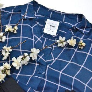 Sonoma Good for Life High Low plaid tunic